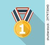 medal icon | Shutterstock .eps vector #297973040