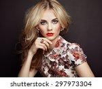 portrait of beautiful sensual... | Shutterstock . vector #297973304