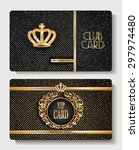 vip club cards with crown | Shutterstock .eps vector #297974480