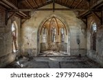 the interior of an abandoned...