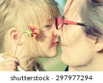 mother and daughter. many other ... | Shutterstock . vector #297977294