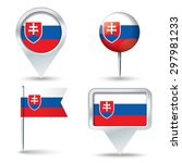 map pins with flag of slovakia  ...   Shutterstock .eps vector #297981233