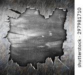 crack metal background template  | Shutterstock . vector #297981710