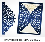 abstract wedding cutout... | Shutterstock .eps vector #297984680