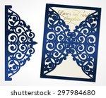 abstract wedding cutout... | Shutterstock .eps vector #297984680