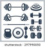 set of sport weights for... | Shutterstock .eps vector #297990050