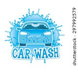 vector sign. car wash. | Shutterstock .eps vector #297992579