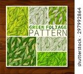 set of seamless textures green... | Shutterstock .eps vector #297992864