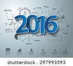 blue tags label 2016 text... | Shutterstock .eps vector #297993593