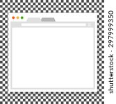 opened browser window template. ... | Shutterstock .eps vector #297999350
