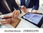 businessmen discussing... | Shutterstock . vector #298002290