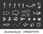 hand drawn arrows icons set... | Shutterstock . vector #298007474