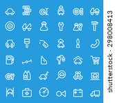 car service icons  simple and... | Shutterstock .eps vector #298008413