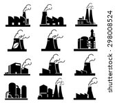 factory icons vector | Shutterstock .eps vector #298008524