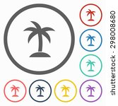 coconut tree icon | Shutterstock .eps vector #298008680