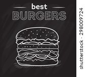 burger house poster on black... | Shutterstock .eps vector #298009724