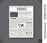 the newspaper with a headline... | Shutterstock .eps vector #298021010