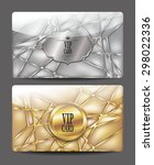 gold and silver  textured vip... | Shutterstock .eps vector #298022336
