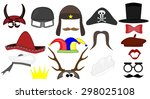 elements for party props. mask. ... | Shutterstock .eps vector #298025108