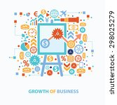 growth of business concept... | Shutterstock .eps vector #298025279