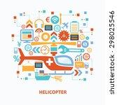 helicopter concept design on... | Shutterstock .eps vector #298025546