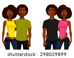young african american people...   Shutterstock .eps vector #298029899