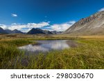 serenity lake in tundra on... | Shutterstock . vector #298030670