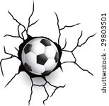 broken wall with soccer or... | Shutterstock .eps vector #29803501