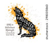 halloween invitation banner... | Shutterstock .eps vector #298035860