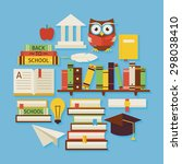 books education and knowledge... | Shutterstock .eps vector #298038410