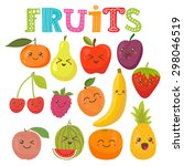 Cute Kawaii Smiling Fruits....