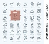 outline web icon set   drink ... | Shutterstock .eps vector #298048520