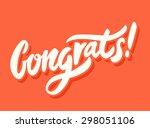 congrats  congratulations card.  | Shutterstock .eps vector #298051106