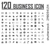 120 business icon set | Shutterstock .eps vector #298054154
