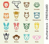 wild animal elements  vector... | Shutterstock .eps vector #298056680