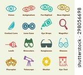optical elements  vector... | Shutterstock .eps vector #298056698