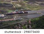 Cargo Ships At Miraflores Lock...