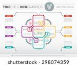 web template for circle science ... | Shutterstock .eps vector #298074359