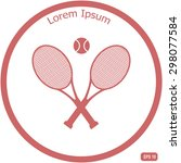 tennis rackets with ball vector ... | Shutterstock .eps vector #298077584