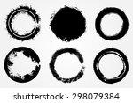 grunge circles set.grunge round ... | Shutterstock .eps vector #298079384
