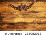 "plaque ""bbq"" nailed to a wooden ... 