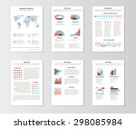 set of templates for business... | Shutterstock .eps vector #298085984