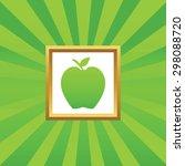 image of apple in golden frame  ...
