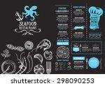 restaurant cafe menu  template... | Shutterstock .eps vector #298090253