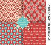 vector set of seamless patterns | Shutterstock .eps vector #298095080