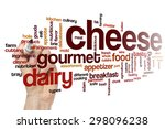 cheese word cloud | Shutterstock . vector #298096238