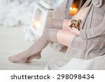 pregnant woman belly. pregnancy ...   Shutterstock . vector #298098434