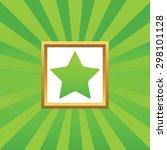 image of star in golden frame ...