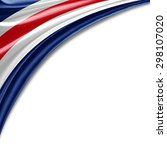 Costa Rica  Flag Of Silk With...