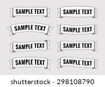 set of retro ribbon banners.... | Shutterstock .eps vector #298108790